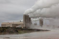 地热能植物,冰岛。 图库摄影