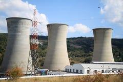 地热能量生产在Larderello,托斯卡纳 图库摄影