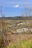 地热能驻地在Lardarello 库存图片