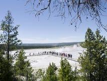 地热水池在黄石国家公园在美国 库存照片