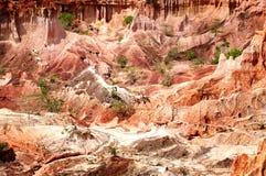 地狱厨房, Marafa峡谷,肯尼亚 免版税库存照片