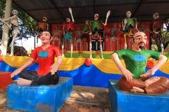 -地狱和天堂- 0024的泰国寺庙 库存图片