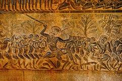 地狱场面  击中有asuda的Asuras人 angkor柬埔寨收割siem wat 在世界162的最大的宗教纪念碑 6他 免版税库存照片