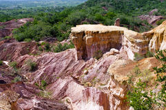 地狱的厨房, Marafa峡谷,肯尼亚 免版税库存照片
