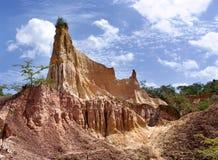 地狱的厨房, Marafa峡谷,肯尼亚 免版税图库摄影