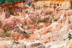 地狱的厨房, Marafa峡谷 免版税库存照片