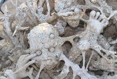 从地狱的雕象, Wat荣Khun 图库摄影