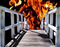 地狱路 免版税库存照片