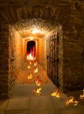 从地狱退出。门户是开放的。 库存图片