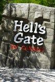 地狱` s门fraser峡谷 免版税库存照片