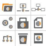 地球万维网图标集合第3部分 免版税图库摄影
