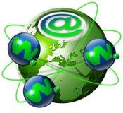 地球万维网宽世界 库存照片