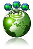 地球万维网宽世界 免版税库存图片