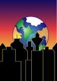 地球上升 库存图片
