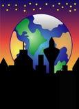 地球上升 免版税库存照片