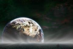 地球上升 库存照片