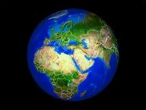 地球上的以色列从空间 皇族释放例证