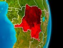 地球上的刚果民主共和国 图库摄影