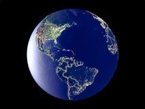 地球上的加勒比从空间 免版税库存图片