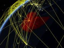 地球上的埃塞俄比亚与网络 库存例证