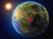 地球上的埃塞俄比亚与网络 皇族释放例证