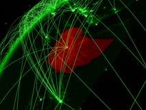 地球上的埃塞俄比亚与网络 向量例证