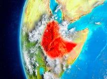 地球上的埃塞俄比亚从空间 皇族释放例证