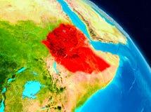 地球上的埃塞俄比亚 库存例证