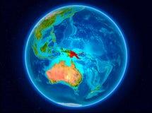地球上的巴布亚新几内亚 免版税库存照片