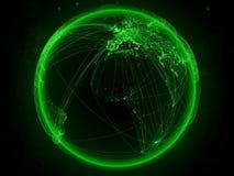 地球上的布基纳法索与网络 向量例证
