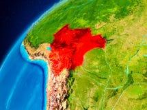 地球上的玻利维亚从空间 库存图片