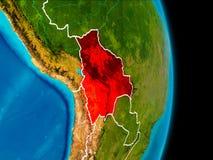 地球上的玻利维亚 免版税库存照片