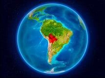 地球上的玻利维亚 库存照片