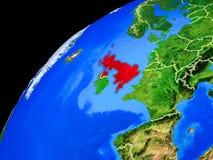 地球上的英国从空间 免版税库存照片
