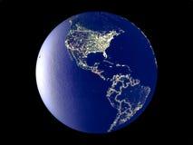 地球上的萨尔瓦多从空间 免版税图库摄影