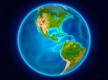 地球上的萨尔瓦多 免版税库存照片