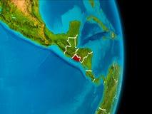 地球上的萨尔瓦多 免版税图库摄影