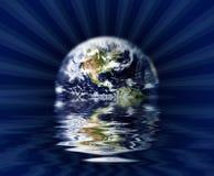 地球下沉 库存图片