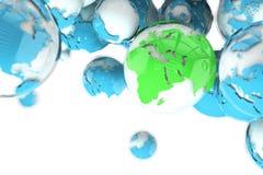 地球世界地图 库存例证