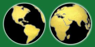 地球世界地球集合 库存图片
