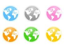 地球世界 库存例证
