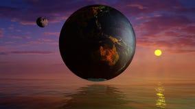 以地球为中心的宇宙 免版税库存照片