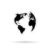 地球传染媒介剪影 库存照片