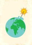 地球作为炸弹 免版税库存照片
