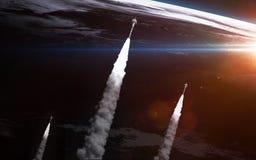 地球例证空间向量视图 美国航空航天局装备的这个图象的元素 免版税库存照片