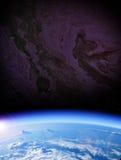 地球例证空间向量视图 库存图片