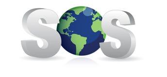 地球保存sos向量 库存图片
