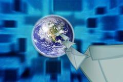 地球信包邮件行星 免版税库存图片