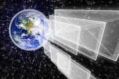 地球信包邮件行星 免版税库存照片