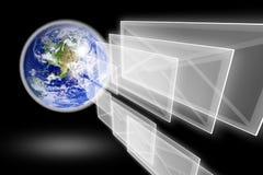 地球信包邮件行星 图库摄影